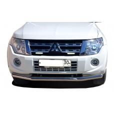 Защита переднего бампера Mitsubishi Pajero 4 2006